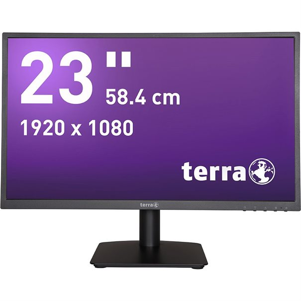 "TERRA LED Monitor 2311W - 58,4 cm (23"") schwarz HDMI GREENLINE PLUS - IPS HDMI + VGA – Bild 1"