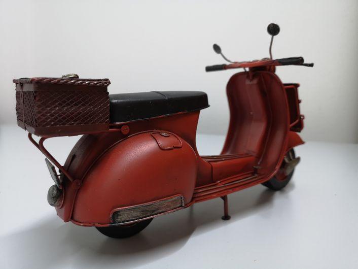 Retro Motorroller mit Bilderrahmen ca. 29x11x15cm Bildausschnitt ca. 4x6 cm - AD722018 – Bild 7