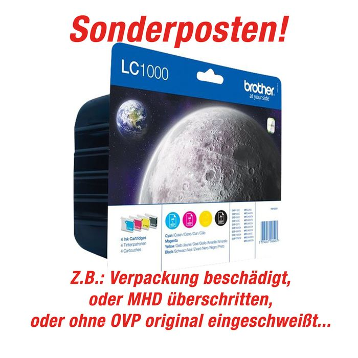 Sonderposten - Original Brother Patronen LC-1000 Multipack - 4er Pack