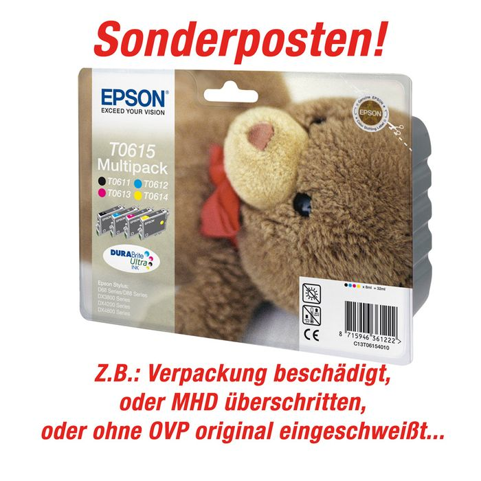 Sonderposten Original Epson T0615 Multipack – Bild 1