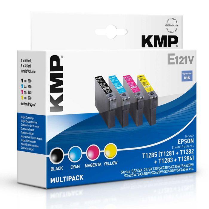 KMP E121V Multipack Epson T1281-T1284 (T1285) kompatibel - mit 4 Tintenpatronen