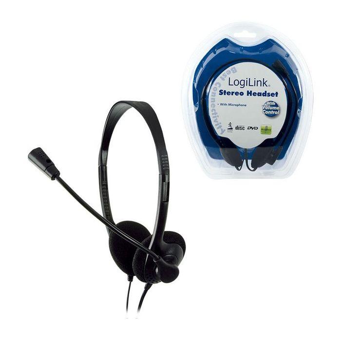 LogiLink Headset HS0001 Stereo mit Mikro Deluxe Klinke