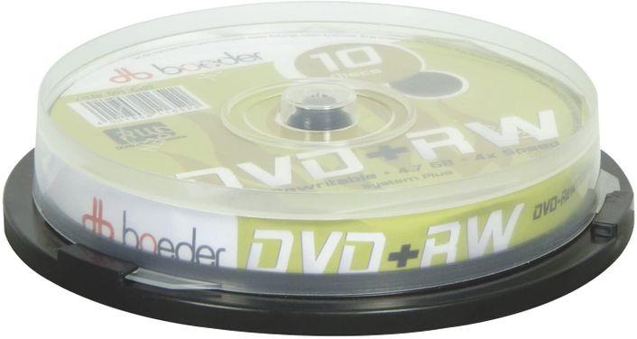 boeder DVD+RW - wiederbeschreibbar - 4,7GB - 10er Cakebox