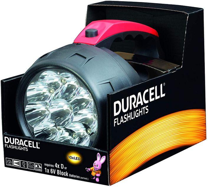 Duracell LED Hand-Taschenlampe FLN-20B (inkl. 4x D Batterien) – Bild 1