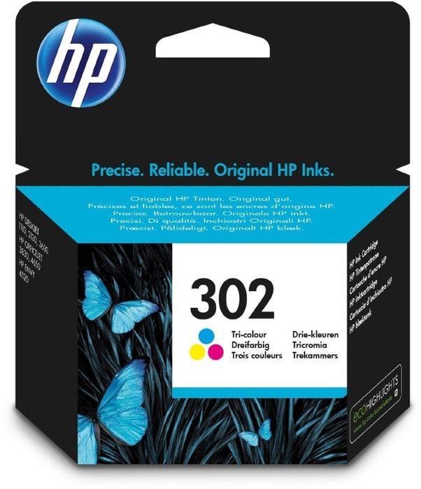 HP F6U65AE 302 Tinte CMY