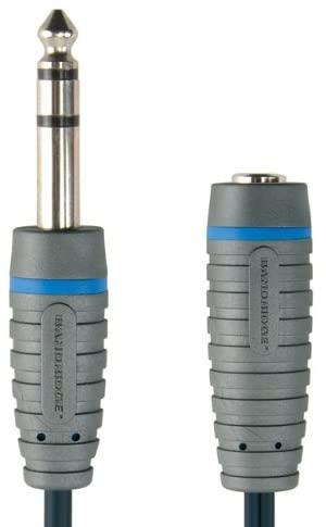 Bandridge bal6605 Stereo Audio Kabel 6.3 mm männlich 6.3 mm weiblich Stereo 5 m