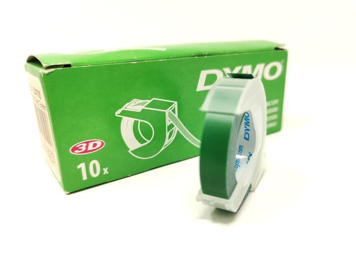 Dymo Prägeband 14505 - 12 mm matt green 6er Pack