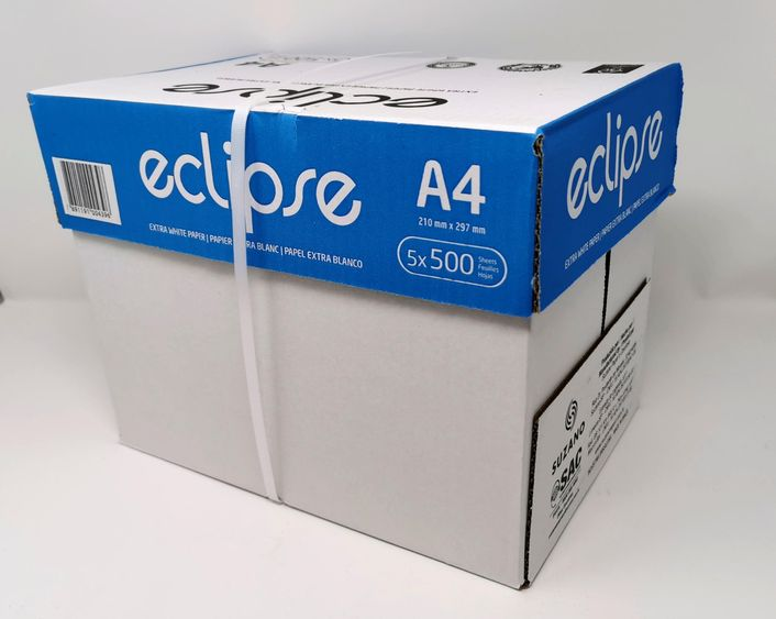 1 Karton eclipse Kopierpapier DIN A4 - 5x500 Blatt 80g/m2 für Laser-, Inkjet , Kopierer und Fax FSC Zertifiziert