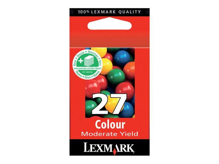 Original LEXMARK Nr. 27 Druckerpatrone Tinte Colour Lexmark 10NX227E