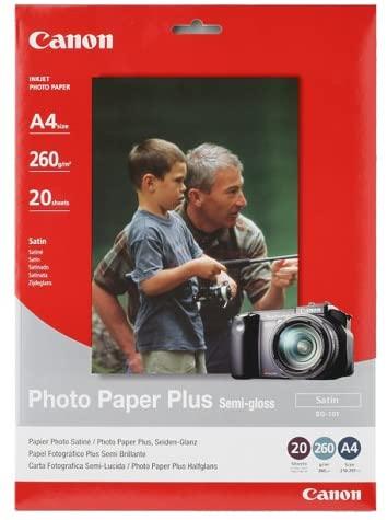 Canon Fotopapier SG-101 Photo Paper Plus - Satin - 10x15cm (4x6inch) Semi-glänzend 20 Blatt - 260g/m²