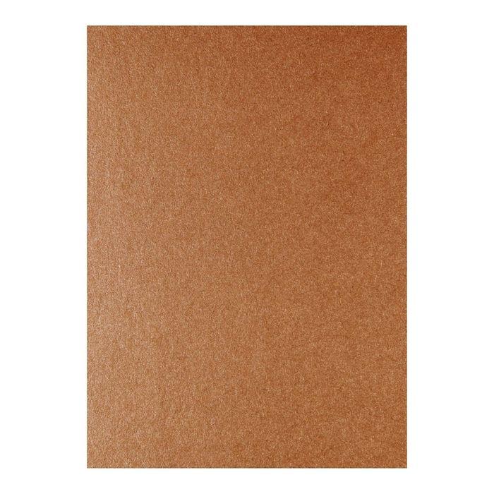 Designpapier Kupfer mit schimmernder Oberfläche 25 Blatt
