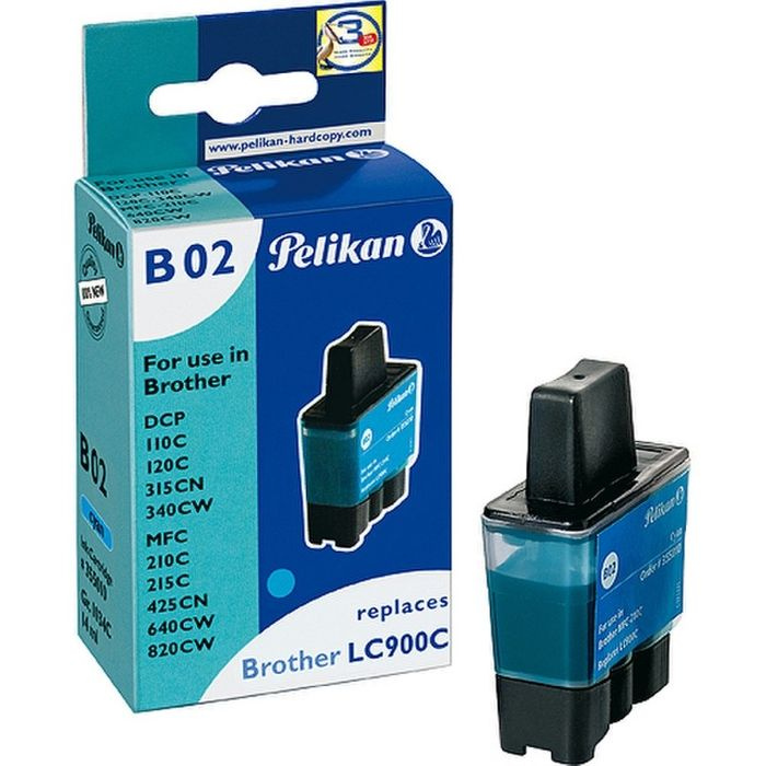 Pelikan B02 kompatibel Brother LC900C Cyan