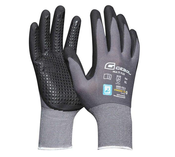[Paket] 12er Pack Gebol Handschuh Multi Flex Gr. 7/ 8 / 9 / 10 / 11 / M / L / XL / XXL / 709275 / 709276 / 709277 / 709278 / 709279