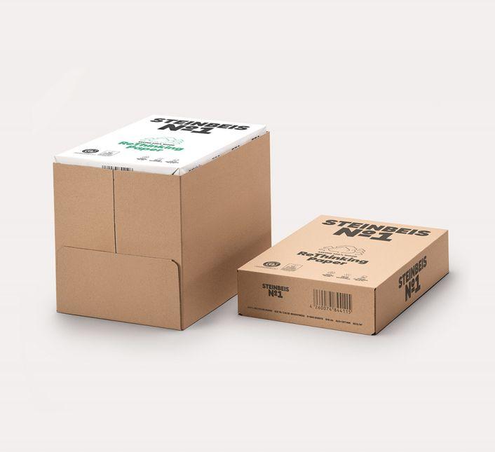 1 Karton Steinbeis No. 1 - ISO 70, 100% Recyclingpapier - DIN A4 - 80 g/m² - 5x 500 Blatt