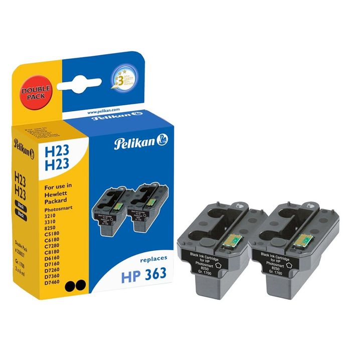 Pelikan H23 Doppelpack kompatibel HP 363 Schwarz