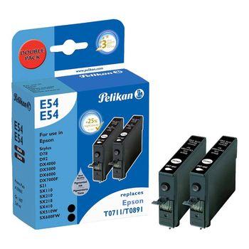 Pelikan Multipack E54/E54 für Epson T0711 / T0891 schwarz