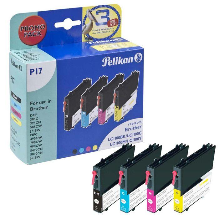Pelikan P17 Multipack für Brother LC1100 - 4 Tintenpatronen