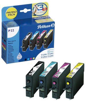 Pelikan Multipack P22 für Epson T1291 T1292 T1293 T1294 - 4 Tintenpatronen