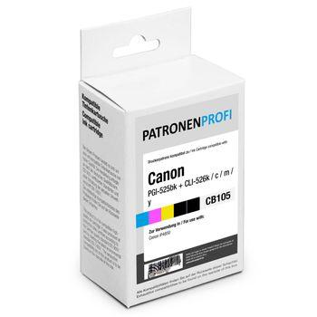 PatronenProfi 5er Tinten Spar Set für Canon PGI-525 CLI-526 B/M/C/Y