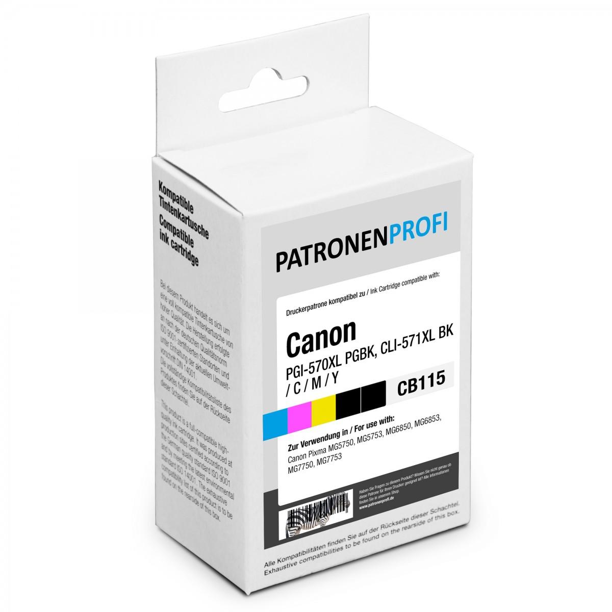 Patronenprofi Spar Set Fr Canon Pgi 570xl Cli 571xl Schwarz Cyan Ink Cartridge 29 Magenta