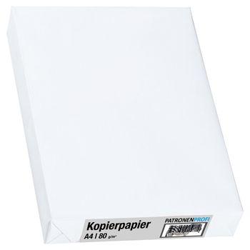 Kopierpapier A4, 80g/m², weiß, 500 Blatt PatronenProfi