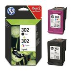 Original HP 302 black + colour - X4D37AE