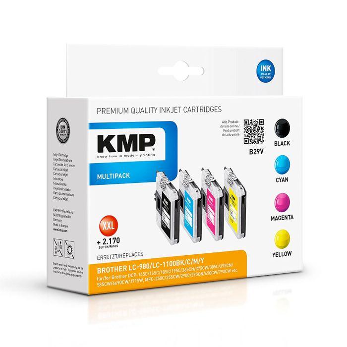 KMP B29V Multipack für Brother LC980 - 4 Tintenpatronen