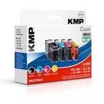 KMP Multipack C66V Canon PGI-5 CLI-8 kompatibel - 4 Tintenpatronen