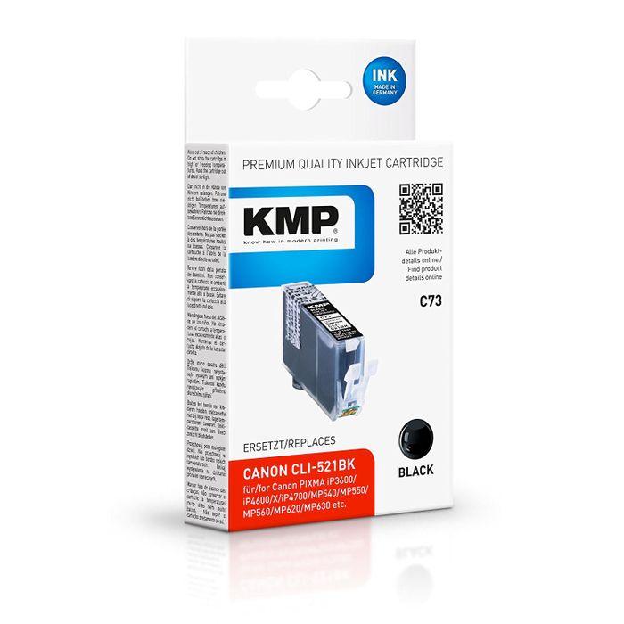 KMP C73 kompatibel mit Canon CLI-521 BK Tintenpatrone schwarz