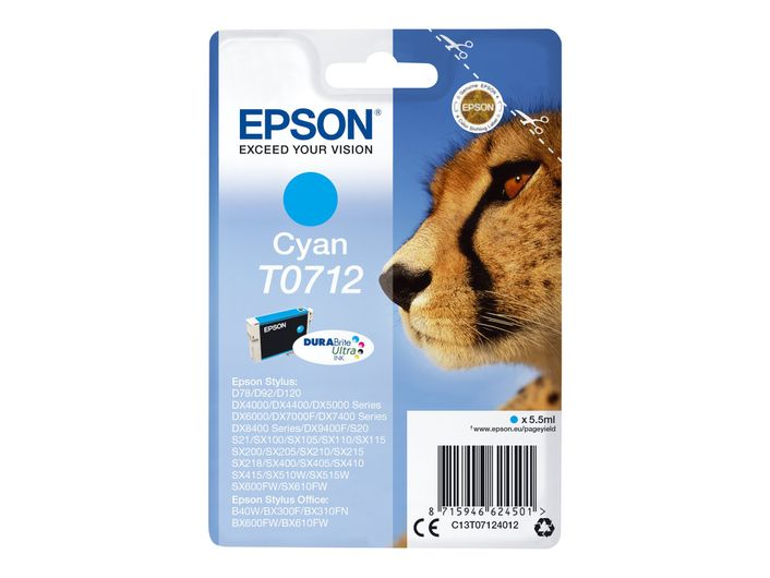 Original Epson T0712 cyan