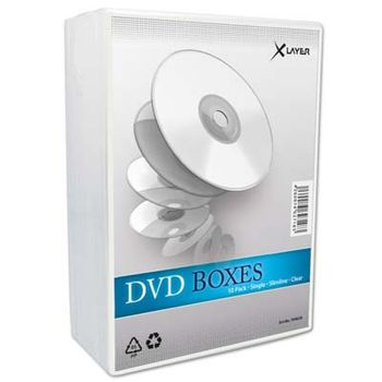 DVD Hüllen Slim 10er Pack XLayer transparent