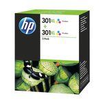 HP 301 XL Doppelpack Tintenpatronen Color (dreifarbig) D8J46AE