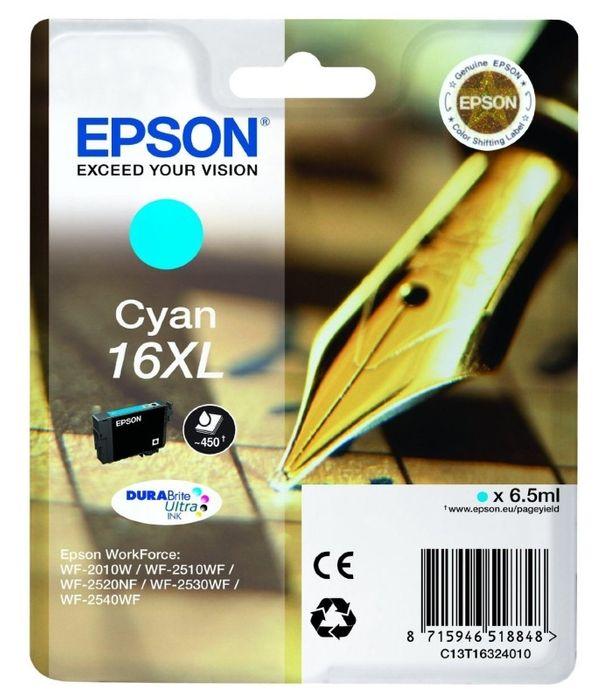 Original Epson T1632 XL cyan