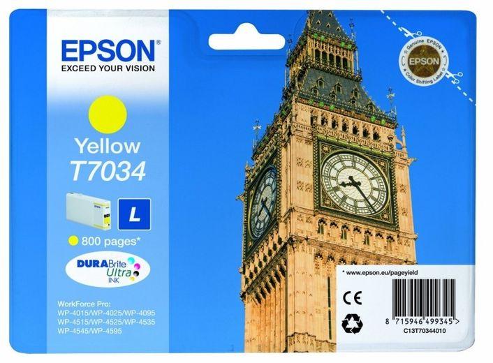 Original Epson T7034 Tinte Gelb