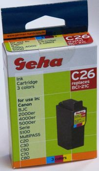 Geha C26 kompatibel Canon BCI-21C color Tintenpatrone