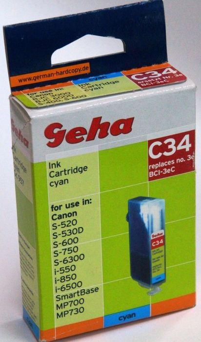 Geha C34 kompatibel Canon BCI-3eC Cyan Tintenpatrone