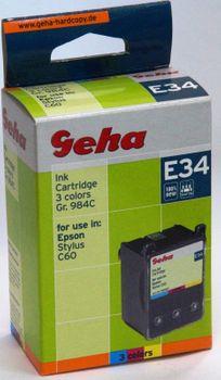 Geha E34 kompatibel Epson Gr. 984C Colors Epson Stylus C60