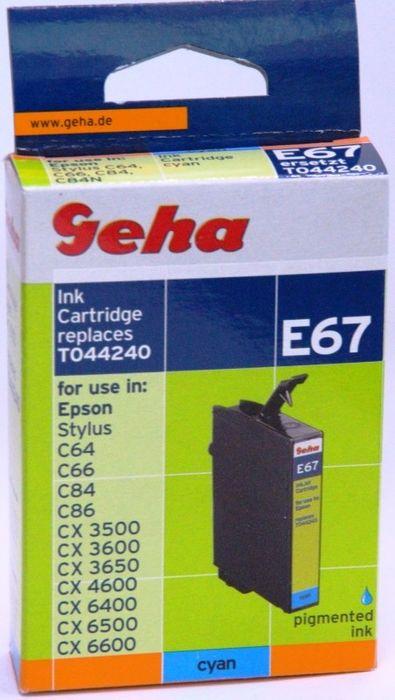 Geha E67 kompatibel Epson T044240 Cyan Stylus C64, C66, C84, C86, CX3500