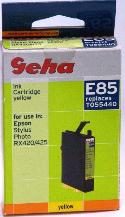 Geha E85 kompatibel Epson T055440 Gelb Stylus Photo R240, R245, RX420