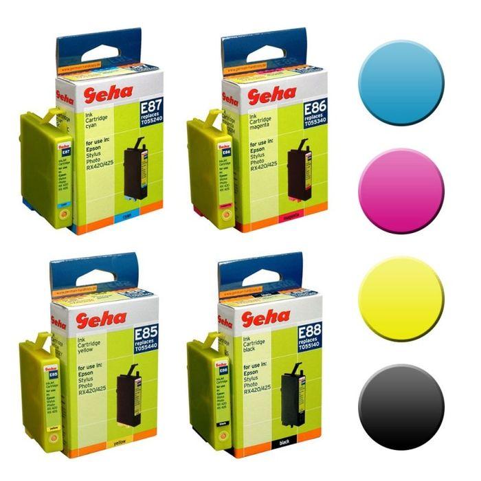Geha Multipack E85-E88 kompatibel Epson B/C/M/Y 4 Patronen T0551-T0554