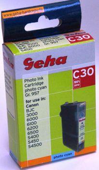 Geha Tintenpatrone C30 kompatibel Canon BCI-3ePC Photo Cyan