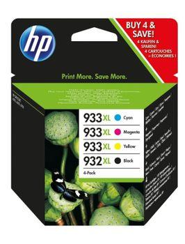 HP 932 / 933 XL Multipack mit 4 Tintenpatronen