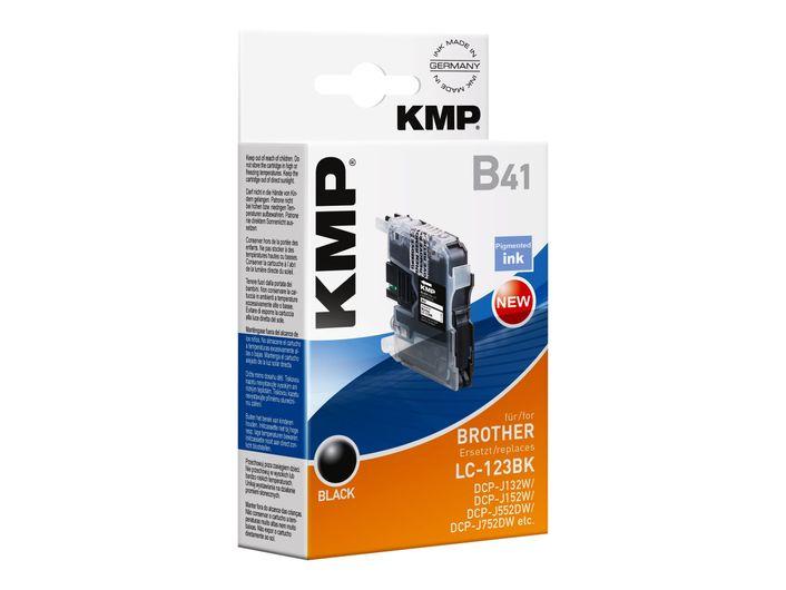 KMP B41 Druckerpatrone für Brother LC-123 BK