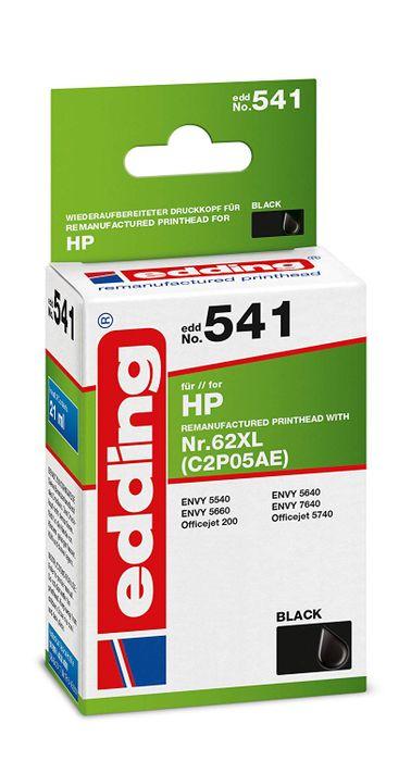 Edding EDD-541 Tintenpatrone für HP 62 XL black