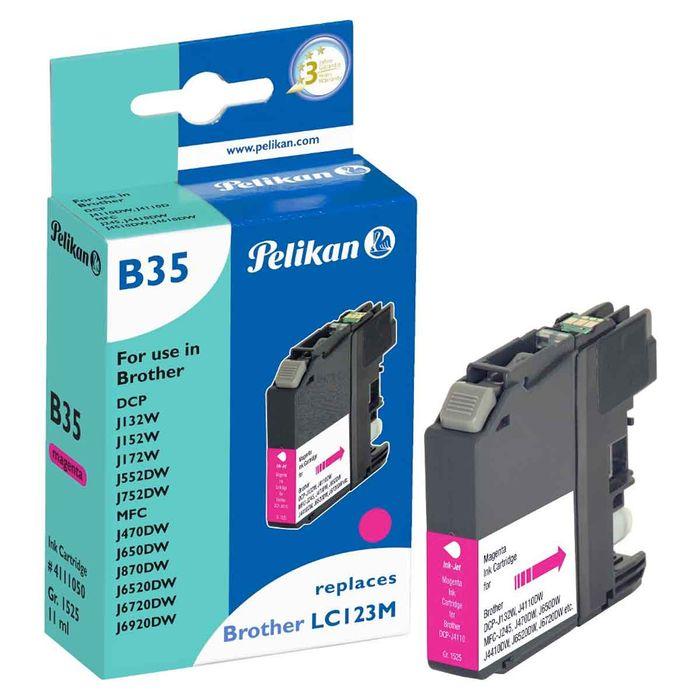 Pelikan B35 Tinte 4110 ersetzt brother LC-123M, magenta
