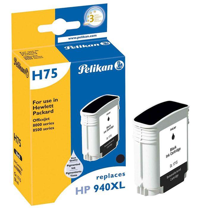 Pelikan H75 Tintenpatrone baugleich mit HP 940XL BK, schwarz (Pigmenttinte)