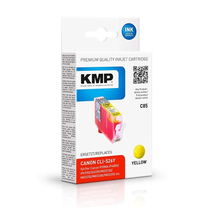 KMP C85 Tintenpatrone ersetzt Canon CLI-526 Y Gelb
