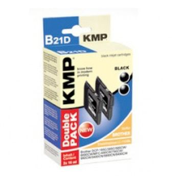 KMP Multipack B21D kompatibel Brother LC-1100BK schwarz