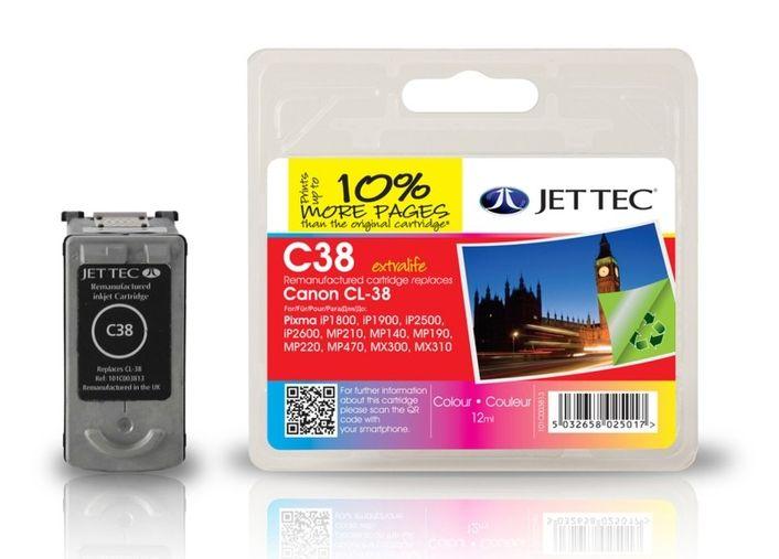 JetTec C38 ersetzt Canon CL-38 Colour