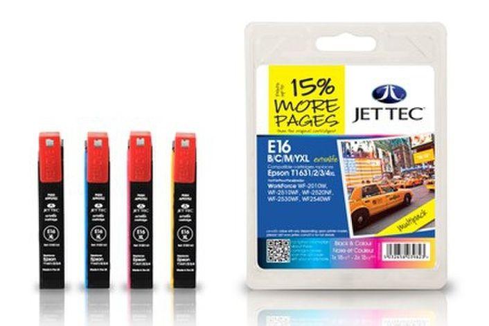 Jet Tec E16XL Multipack kompatibel Epson T1636 16XL E16B/C/M/Y